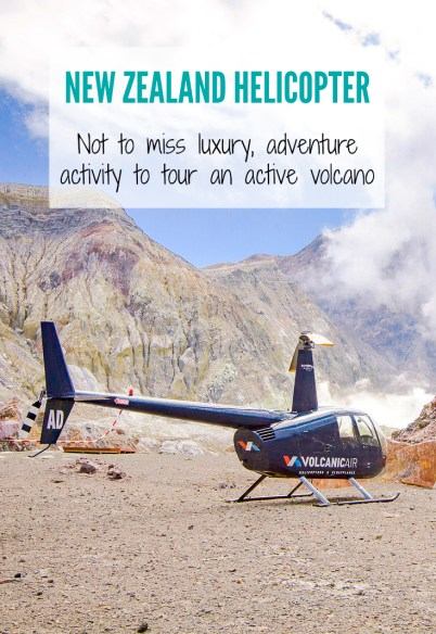 Not to miss adventure activity in New Zealand, one of the most active volcano zones in the world! Don't miss the opportunity to take a helicopter to one of the country's active volcanoes and walk around! | www.eatworktravel.com - The luxury, adventure travel couple!