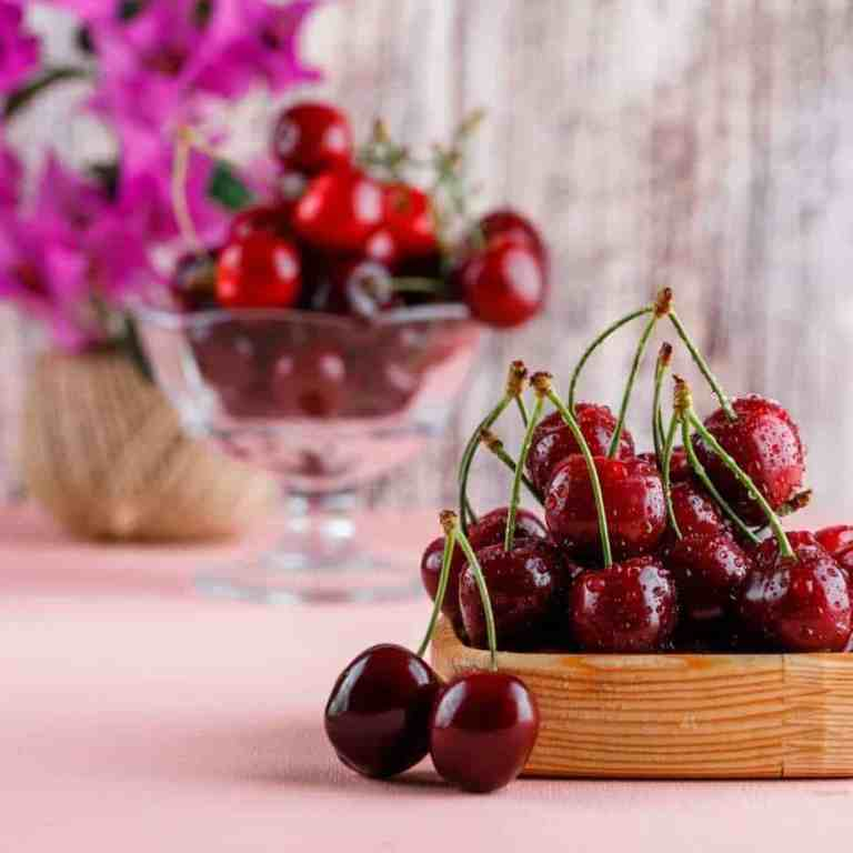 Basket of antioxidant-rich cherries.