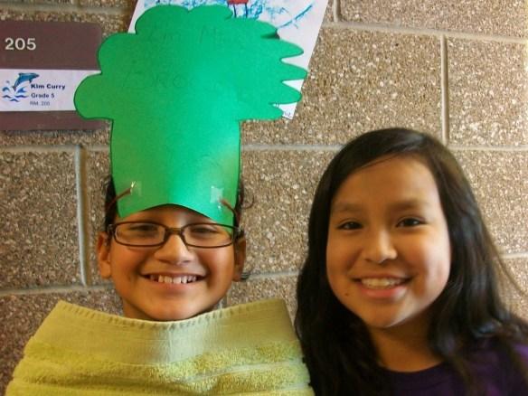 Cynthia Dresses as a Broccoli