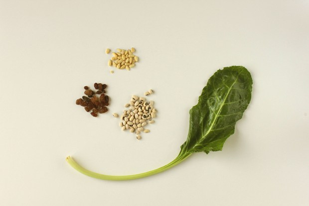 black eyes beans with greens @eatyourselfgreek