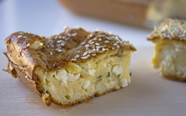 Greek yoghurt and cheese pie @eatyourselfgreek