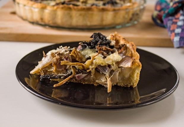 mushroom tart @eatyourselfgreek