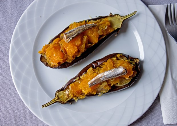 img_6979 Aubergine with pumpkin and smoked anchovies @eatyourselfgreek