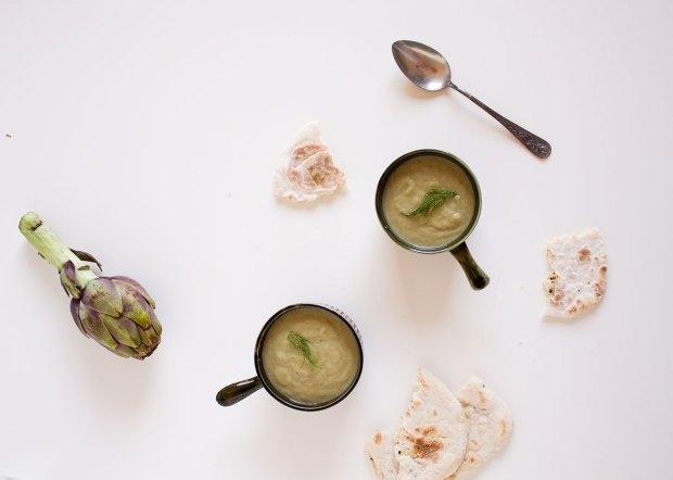artichoke and leek soup @eatyourselfgreek