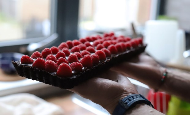 chocolate and rasberry tart by Konstantinos @eatyourselfgreek