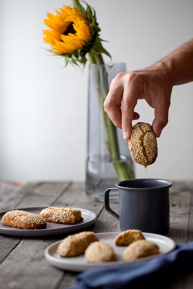 soft grape molasses cookies @eatyourselfgreek
