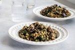 mushroom spinach barley risotto