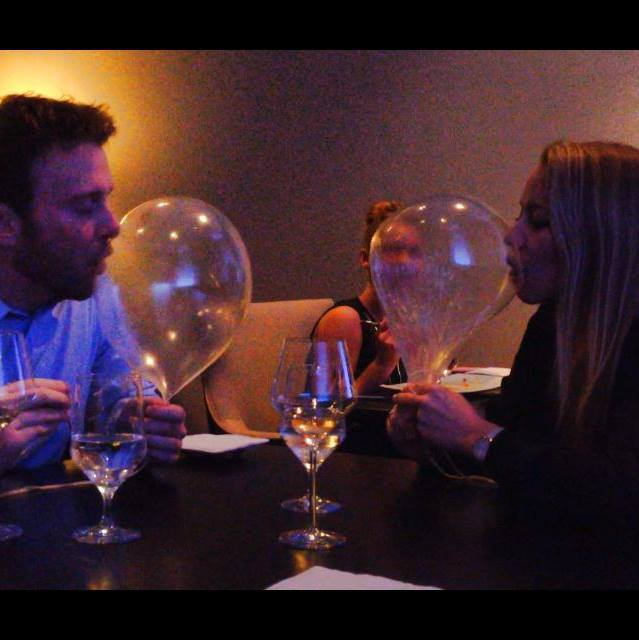 alicia eating a baloon