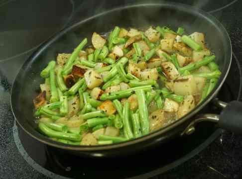 + green beans