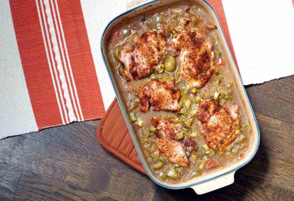A foolproof recipe for weeknight dinners or to bring for a meal train, this amaranth and tomatillo chicken bake is loaded with protein, vitamins, and flavor.