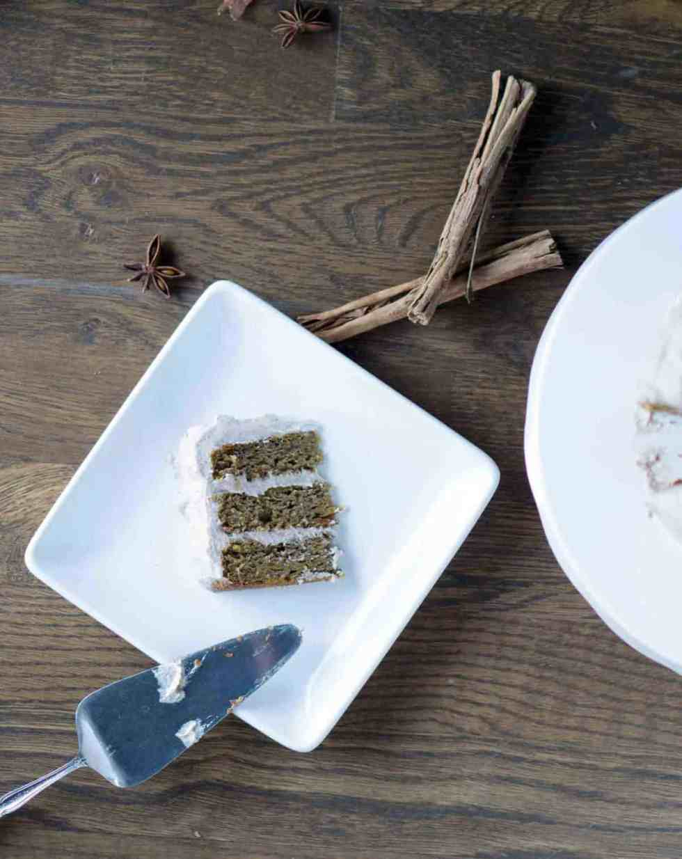 pumpkin spice cake with coconut whipe cream thats gluten free, dairy free, refined sugar free and fluffy delicious