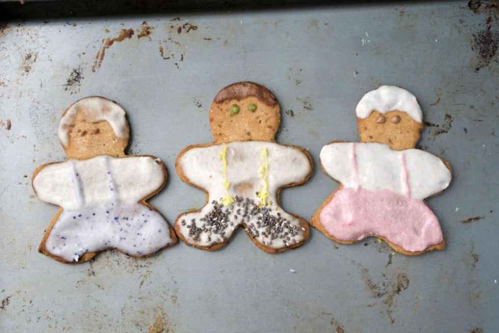 and then tehre were three... gluten free, dairy free refined sugar free Christmas cut out cookies