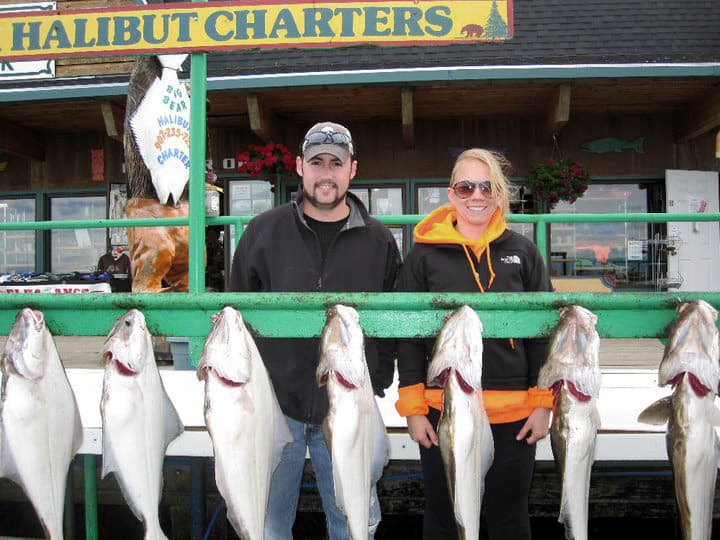 our halibut catch - 6 total