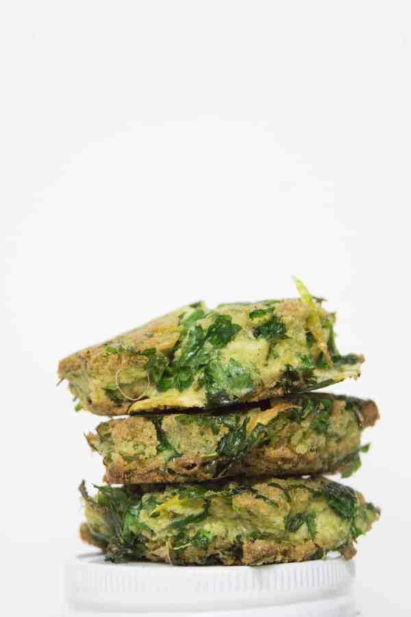 Celery Juice Pulp Fritters using leftover celery juice pulp to make a healthy paleo breakfast