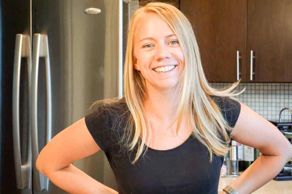 Alicia Pope in the kitchen