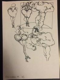 """Kostümentwurf zum Song """"Disco Queen"""", gezeichnet von Marlies Breier (1979)"""