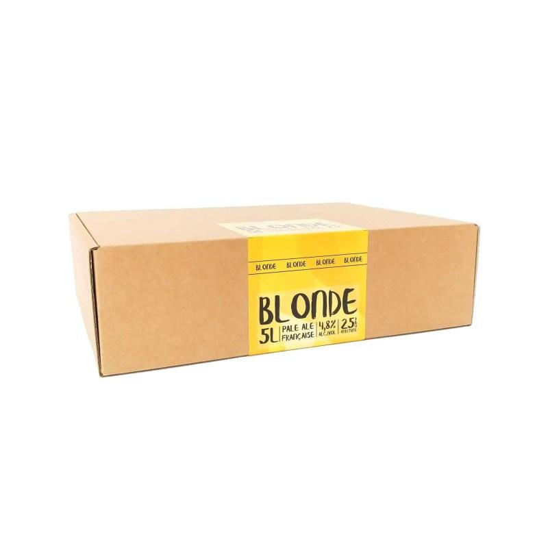 Emballage d'une recharge Eazy Brewing pour brasser une bière recette blonde