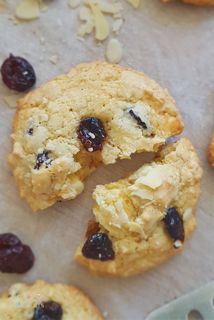 Cranberry almond cookies recipe