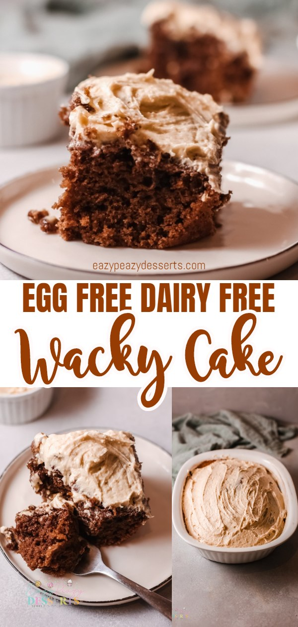 This wacky cake recipe with peanut butter frosting is a delicious and decadent dessert that's made using only one pan and pantry staples ingredients. A frugal and delicious cake that's a perfect treat for those times when you are craving something sweet. via @eazypeazydesserts