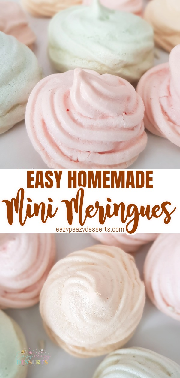 Thinking about making mini meringues that go well beyond standard? Look no further than this colorful meringue cookies recipe! Add a dash of color to your sweet table with these brilliant and cheerful meringue treats that any beginner can make! via @eazypeazydesserts