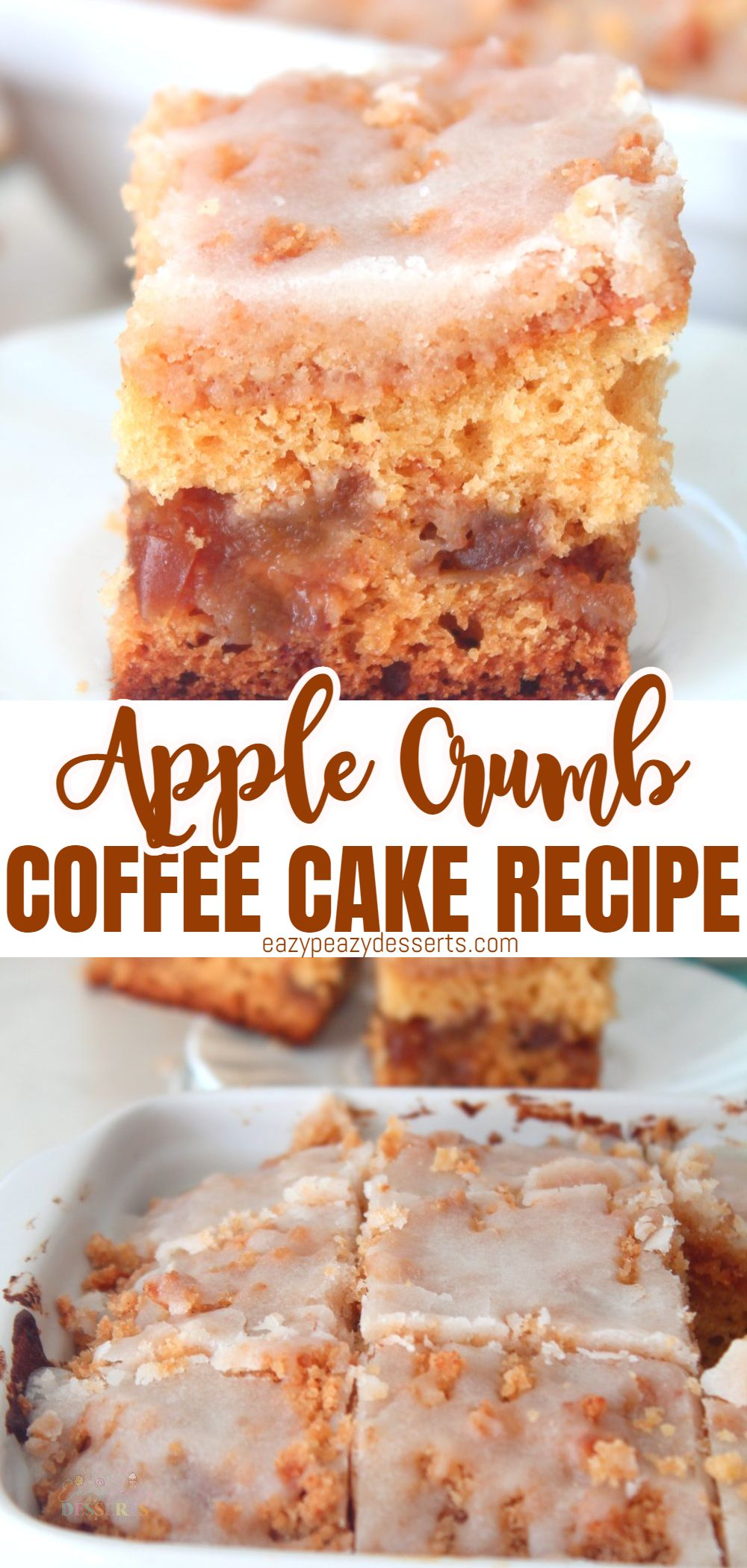 Apples and coffee? Nope, just a delicious crumb cake with apples and cinnamon you would have with coffee. Or tea, or just like that. Today I'm going to show you an amazing and super-easy apple coffee cake recipe you can make in literally no-time! via @eazypeazydesserts