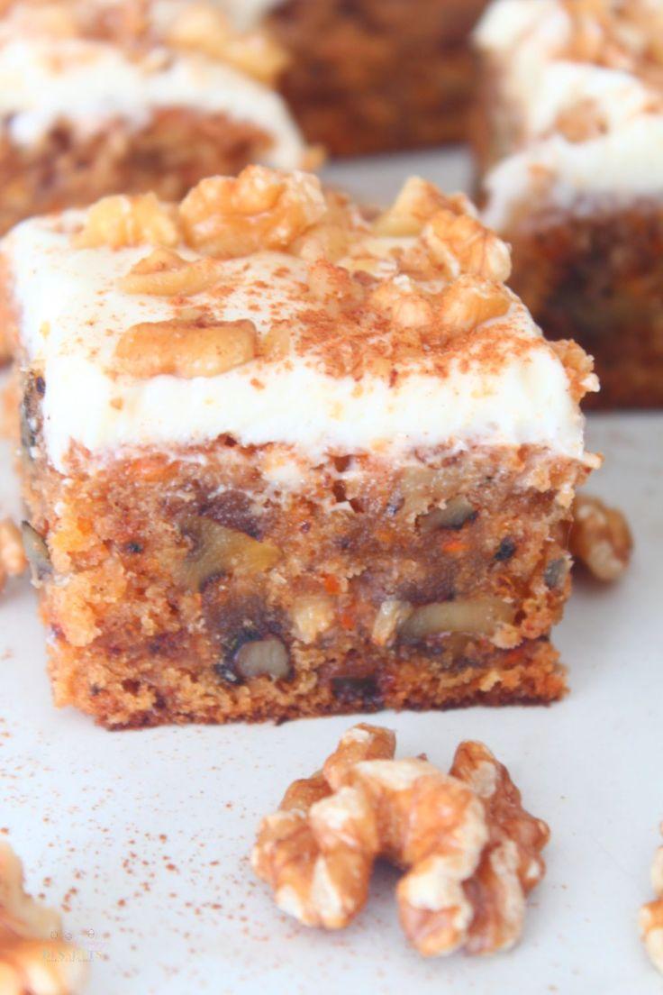 Cream cheese carrot cake bars