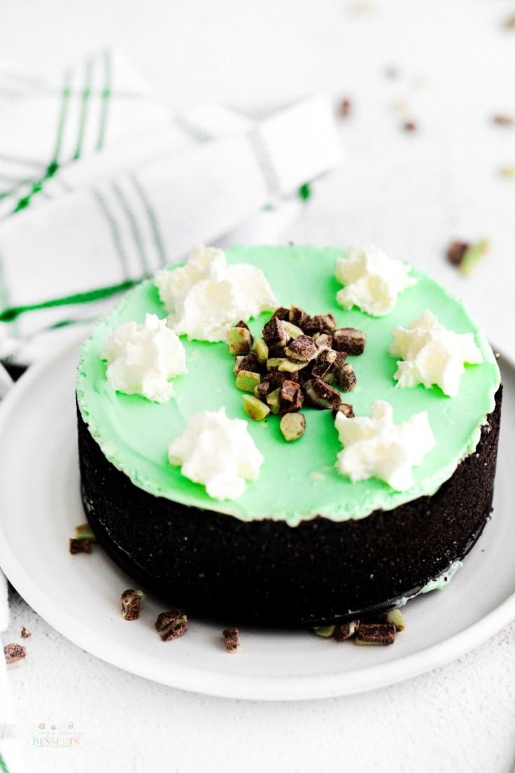 Green cheesecake