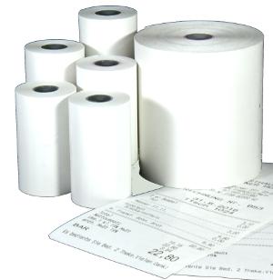 Etiketten Verbrauchsmaterial: Kassenrollen