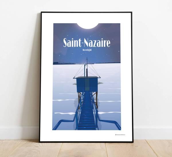 Affiche illustration pêcherie Saint-Nazaire