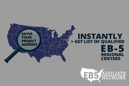 Our EB-5 Regional Center Database Tool where you enter your project address and get a list of qualified regional centers.