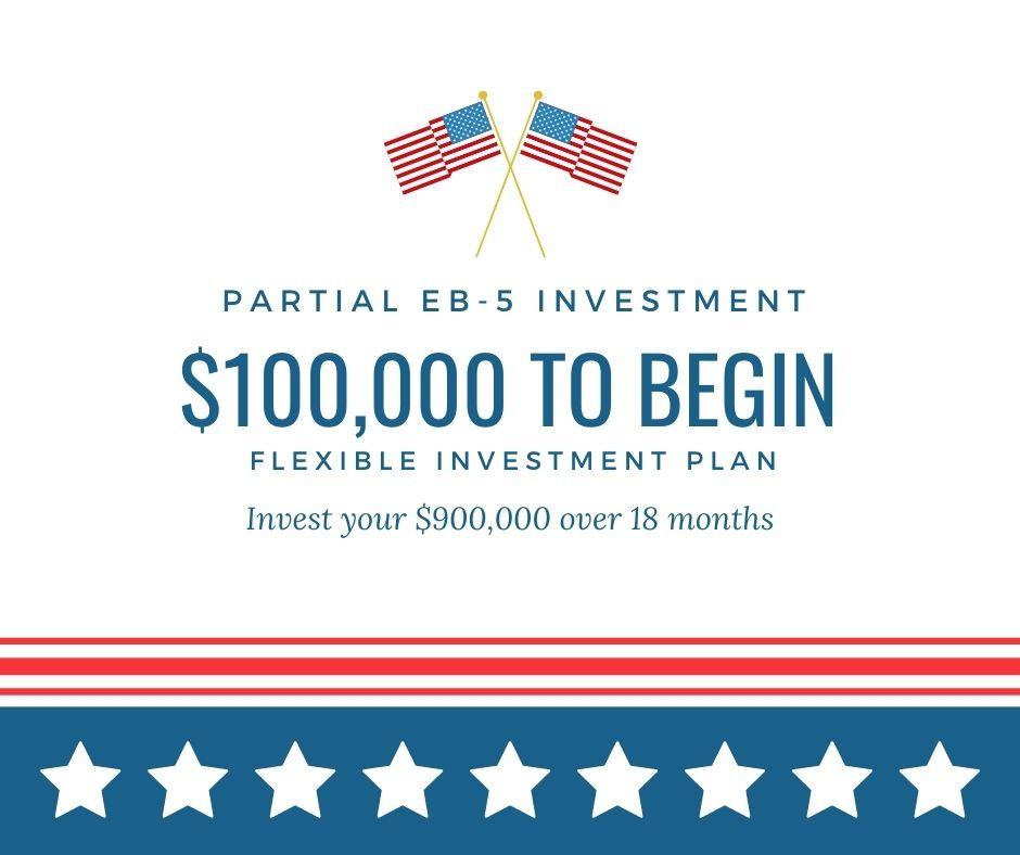 Partial EB5 investment visa