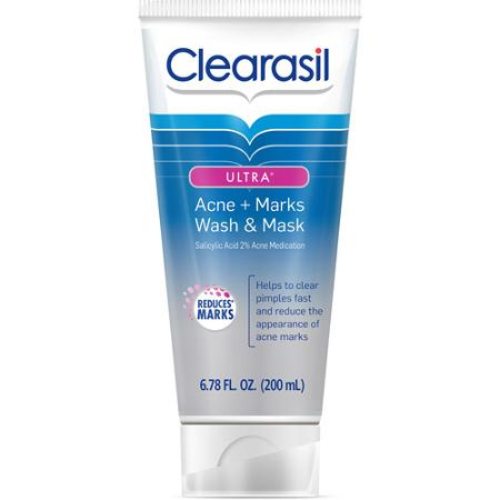 Image result for Clearasil Ultra Acne + Marks Acne Treatment Face Wash and Mask