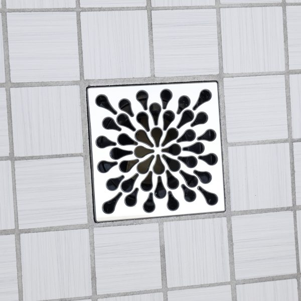 E4805-PS - Ebbe UNIQUE Drain Cover - SPLASH - Polished Stainless Steel - Shower Drain - ad