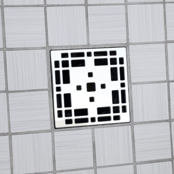 E4801-PS - Ebbe UNIQUE Drian Cover - PRAIRIE - Polished Stainless Steel - Shower Drain - ad