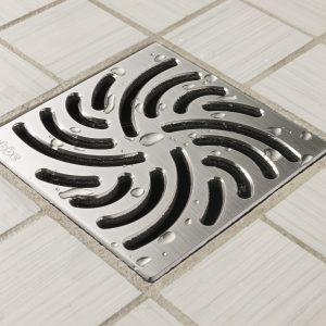 E4806-SS - Ebbe UNIQUE Drain Cover - TWISTER - Satin Stainless Steel - Shower Drain - aw