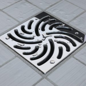 E4806-PS - Ebbe UNIQUE Drain Cover - TWISTER - Polished Stainless Steel - Shower Drain - w