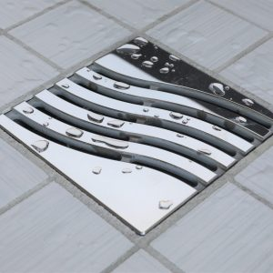 E4814-PS - Ebbe UNIQUE Drain Cover - TSUNAMI - Polished Stainless Steel - Shower Drain - e