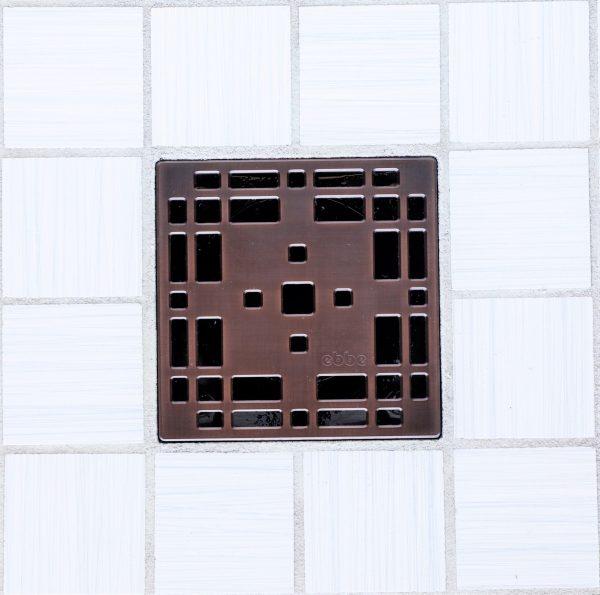E4801-ORB - Ebbe UNIQUE Drain Cover - PRAIRIE - Oil Rubbed Bronze (PVD) - Shower Drain - e