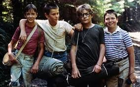 Stand By Me characters: Gordie Lachance, Chris Chambers, Teddy Duchamp and Vern Tessio
