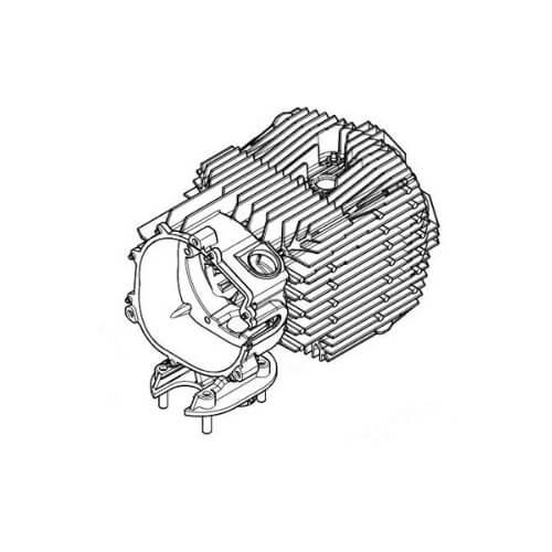 An Eberspacher Airtronic S2D2L heat exchanger used with the Eberspacher Airtronic S2D2L 12/24v heater