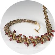 Spiral beadwoven necklace