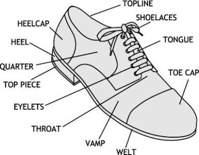 Parts of a shoe