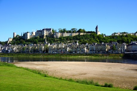 Chinon from the River Loire