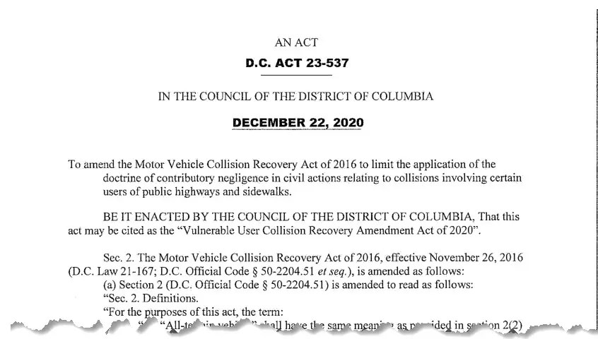 An excerpt of the B23-0083 - Vulnerable User Collision Recovery Amendment Act of 2019