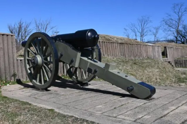 A canon on display in Fort Stevens in Rock Creek Park Washington DC