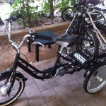 eTrike with eBike in back
