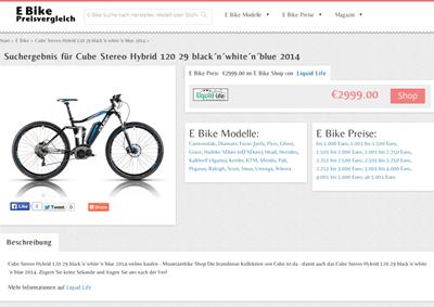 E Bike Preisvergleich