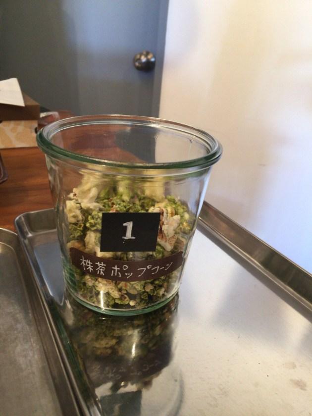 抹茶のポップコーン