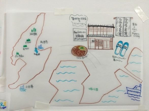 佐渡島の小木の地図
