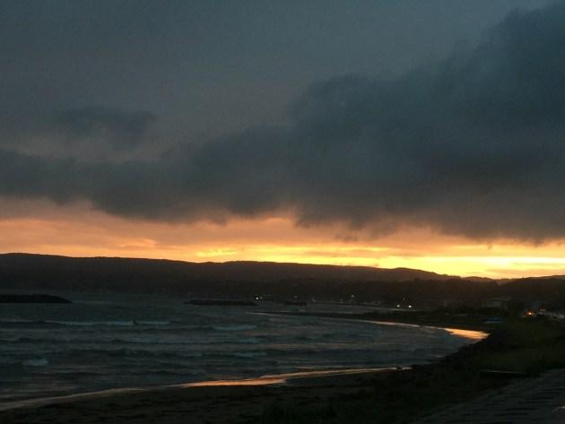 真野湾の夕日